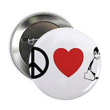 """peace love linux 2.25"""" Button"""