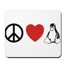 peace love linux Mousepad