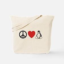 peace love linux Tote Bag