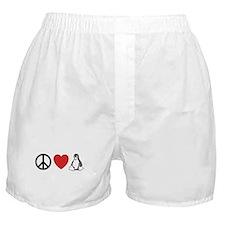peace love linux Boxer Shorts