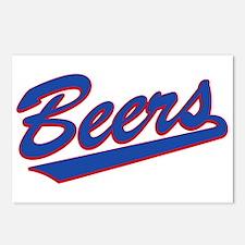 beers baseketball Postcards (Package of 8)