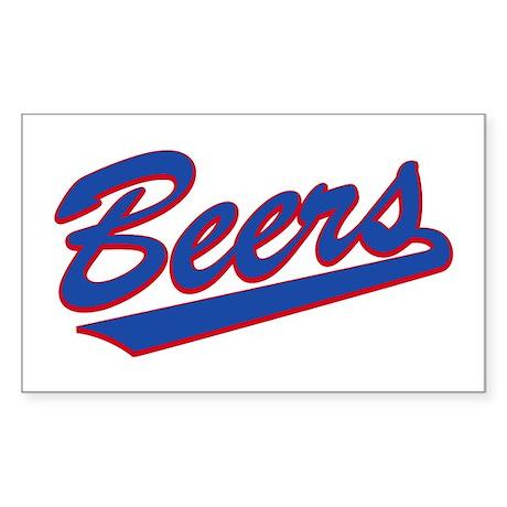 beers baseketball Rectangle Sticker