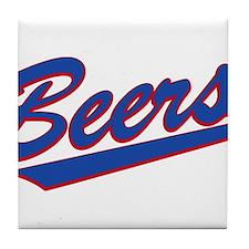 beers baseketball Tile Coaster