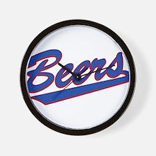 beers baseketball Wall Clock
