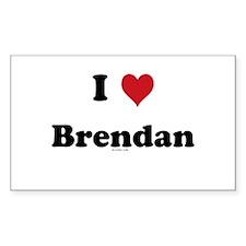 I love Brendan Rectangle Decal