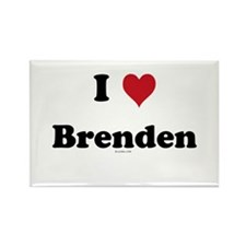 I love Brenden Rectangle Magnet