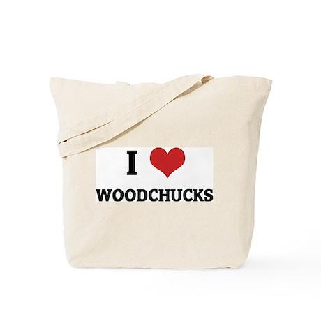 I Love Woodchucks Tote Bag