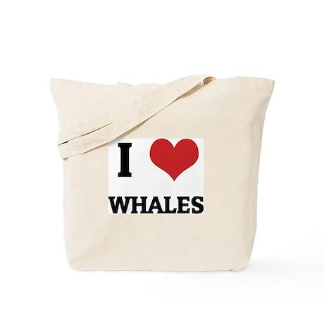 I Love Whales Tote Bag