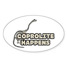 COPROLITE HAPPENS Oval Decal