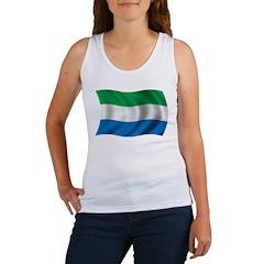 Wavy Sierra Leone Flag Women's Tank Top