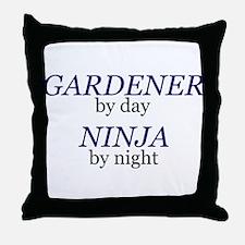 Ninja Gardener Throw Pillow