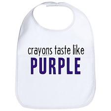 Crayons Taste Like Purple Bib