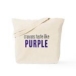 Crayons Taste Like Purple Tote Bag