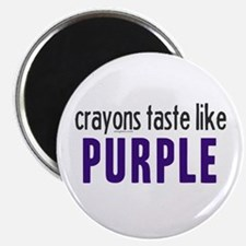 "Crayons Taste Like Purple 2.25"" Magnet (10 pack)"