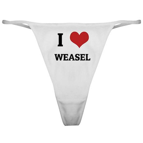 I Love Weasel Classic Thong