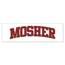 MOSHER Design Bumper Bumper Sticker