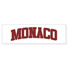 MONACO Design Bumper Bumper Sticker