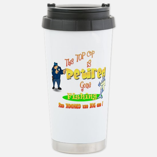 'Top Cop's Big Catch. ' Stainless Steel Travel Mug