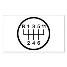 Eleventh Gear Rectangle Decal