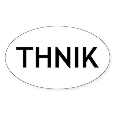 Thnik Sticker (Oval)