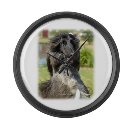 Afghan Hound 9P040D-65 Large Wall Clock
