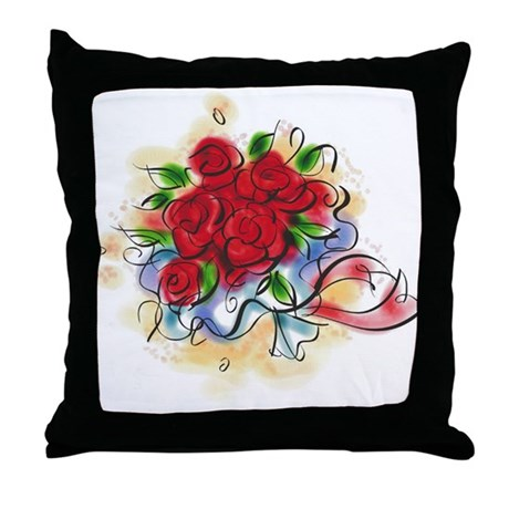 Bright Florals Throw Pillow