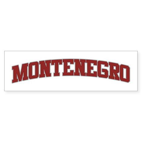 MONTENEGRO Design Bumper Sticker