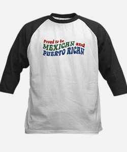 Proud Mexican and Puerto Rican Kids Baseball Jerse