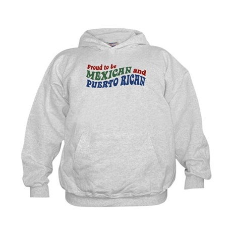 Proud Mexican and Puerto Rican Kids Hoodie