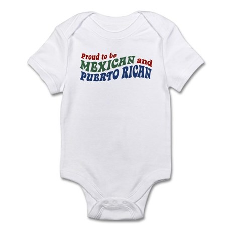 Proud Mexican and Puerto Rican Infant Bodysuit