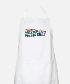Proud Mexican and Puerto Rican BBQ Apron