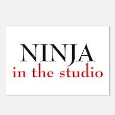 Ninja in the Studio Postcards (Package of 8)