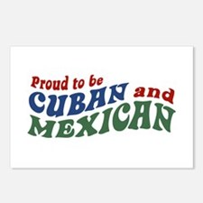 Proud To Be Cuban and Mexican Postcards (Package o