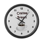 Coffee Break Large Wall Clock