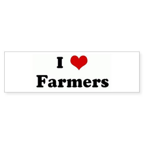 I Love Farmers Bumper Sticker