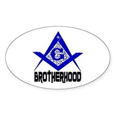 Freemason BROTHERHOOD Oval Decal