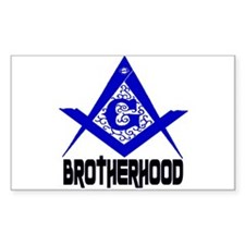 Freemason BROTHERHOOD Rectangle Decal