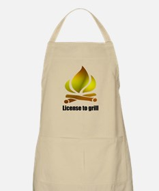 License to grill BBQ Apron