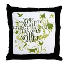 Buddha Noble - Animals and Floral Throw Pillow