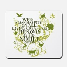 Buddha Noble - Animals and Floral Mousepad