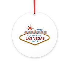 Just Married In Fabulous Las Vegas 2008 Sign Ornam