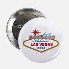 "Just Married In Fabulous Las Vegas 2008 Sign 2.25"""