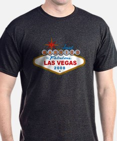 Just Married In Fabulous Las Vegas 2008 Sign T-Shirt