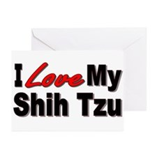 I Love My Shih Tzu Greeting Cards (Pk of 10)