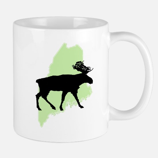 Go Green Maine Moose Mug