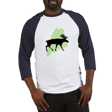 Go Green Maine Moose Baseball Jersey