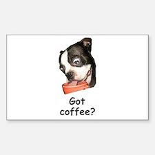 got coffee? Rectangle Decal