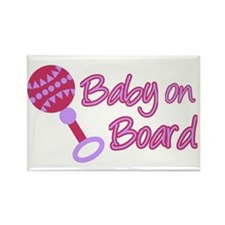 Baby on Board Rectangle Magnet