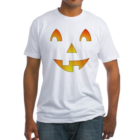 Jack-o-Lantern Face Fitted T-Shirt
