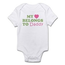 My Heart Belongs To Daddy (Pink/Green) Infant Body